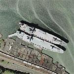 Navy Cargo Ships at Tacoma (Google Maps)
