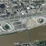 Paul Brown Stadium and Great American Ballpark (Google Maps)