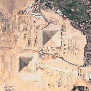 Pyramids of Giza (Google Maps)