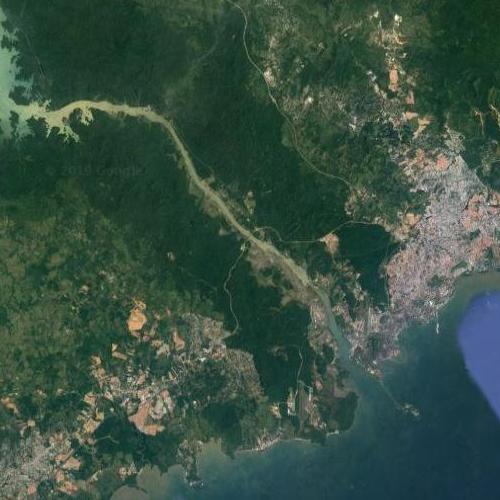 Panama Canal (Google Maps)