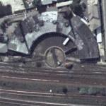 Railroad Roundhouse and turntable (Google Maps)