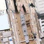 Austrailian Adelaide class frigate in drydock (Google Maps)