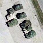 M-1A1 tanks at Camp Dodge (Google Maps)