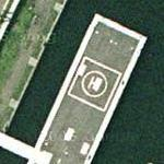 Floating helicopter pad at Minato Mirai Heliport