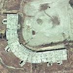 Foundations of abandoned stadium project (Google Maps)