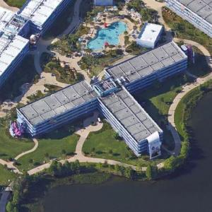 Previously abandoned Disney World resort (Google Maps)