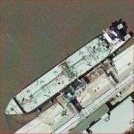 Supertanker in Houston (Google Maps)