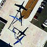 Fouga Magisters as Airplane sculpture (Google Maps)