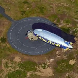 Goodyear Blimp (Google Maps)