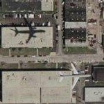 Jet on approach to O'Hare (Google Maps)