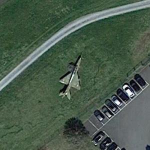 MiG-21 on static display (Google Maps)