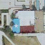 Roof painted like the Texas flag (Google Maps)
