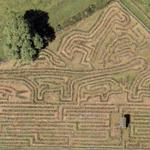 Longest hedge maze in the world (Google Maps)