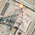 Gas flare with flame (Google Maps)