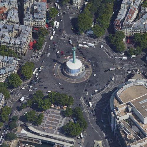 Place de la Bastille (Google Maps)