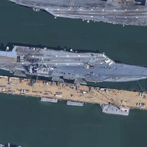 Aircraft Carrier USS Harry S. Truman (CVN-75) (Google Maps)