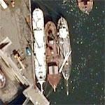 Three old sailing ships (Google Maps)