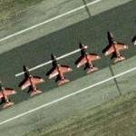 Royal Air Force Aerobatic Team, The Red Arrows (Google Maps)