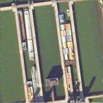 Barges Transiting Locks (Google Maps)
