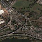 Spaghetti junction (England) (Google Maps)