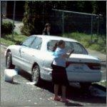 Washing a Car (StreetView)