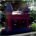 Pink Castle Bouncy House (StreetView)