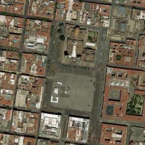 Zócalo, Mexico City (Google Maps)