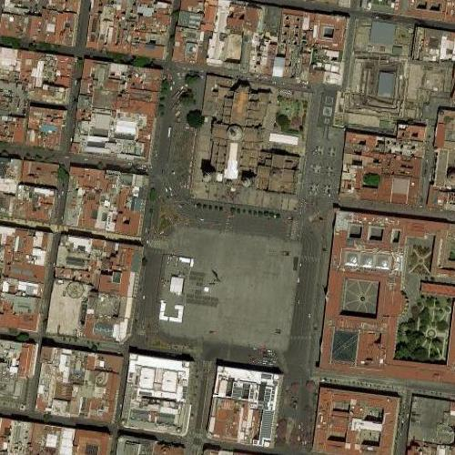 Zócalo, Mexico City (Google Maps)