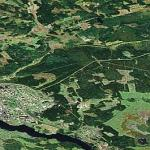 Frontier zone between Finland and Russia (Google Maps)