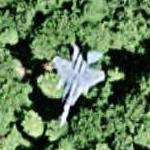 F-15 Eagle in flight (Google Maps)
