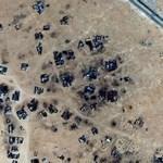 Burned down houses in Libya