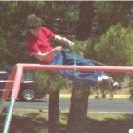 High flying swing set