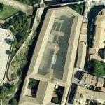 Mediaeval insane asylum and prison for sale for hotel project (Google Maps)