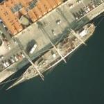 3-mast sailing ship Duchesse Anne (Google Maps)