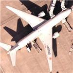 'Tamagotchi' Boeing 777 (Google Maps)