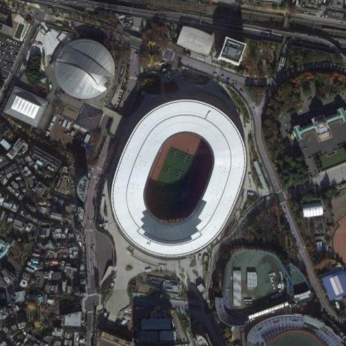 Olympic Stadium - Tokyo (Google Maps)