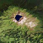 Baitoushan volcano (Google Maps)