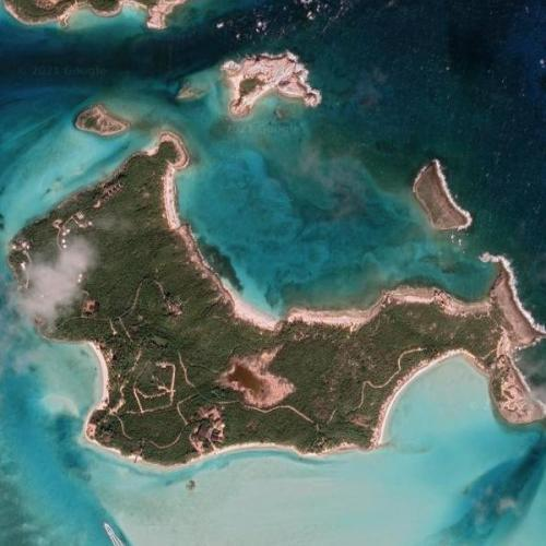 "David Copperfield's ""Musha Cay"" island (Google Maps)"