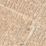 Huge cemetery in the desert (Google Maps)