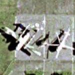 Mil MI-8 and C-119 Flying Boxcar (Google Maps)