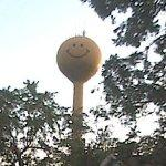 Smiley face water tower (StreetView)