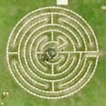 Norwich cathedral labyrinth (Google Maps)