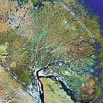 Lena River Delta (Google Maps)