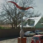 Longhorns on a Giant Fork (StreetView)