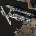 USS Wisconsin (Google Maps)