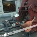 Garbage truck with crew (StreetView)