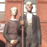 """God Bless America"" statues"