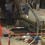 Manhole cover off