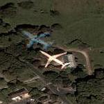 Airplane NE of Paris De Gaulle airport (Google Maps)