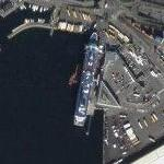 Color Line ship docked at Filipstad (Google Maps)